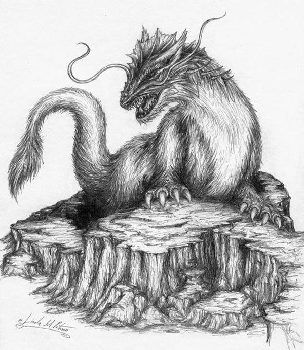 Картинки карандашом драконы для 7 лет