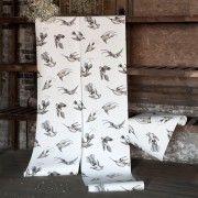 Papier peint oiseaux bleu TROPICAL BIRDS - Cole and Son - Au fil des Couleurs