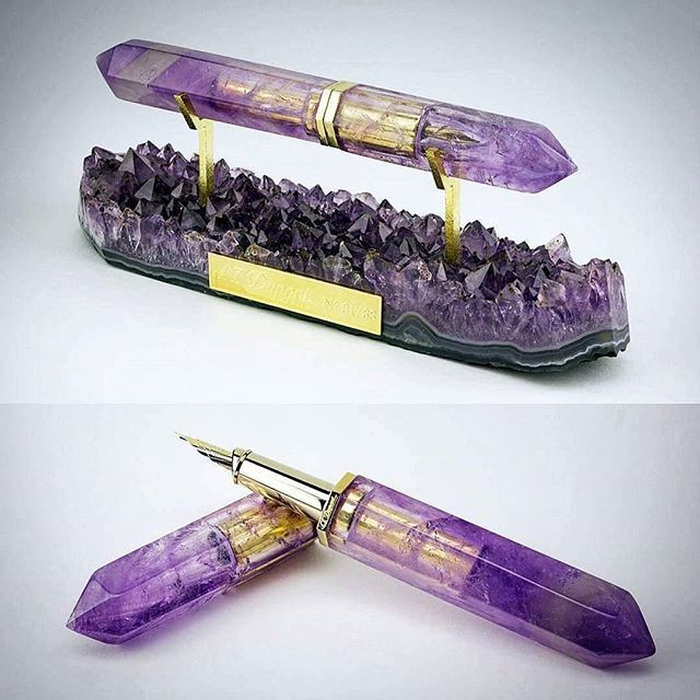 """""""The pen you pull out to write with when you have visions to manifest"""" ✒✨ from @l_aquart MUST have this in my office someday - Know someone who would love this pen? http://www.fountainpennetwork.com/forum/topic/258837-pens-made-of-stone/"""