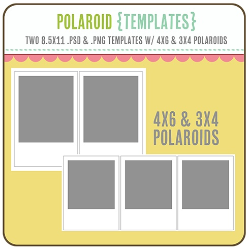 Bien-aimé Polaroid Templates 3x4 4x6 | โพลาลอย 3x4 / 4x6 | Pinterest  WM99
