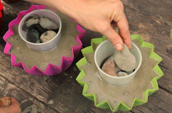 cement planters diy - Google Search