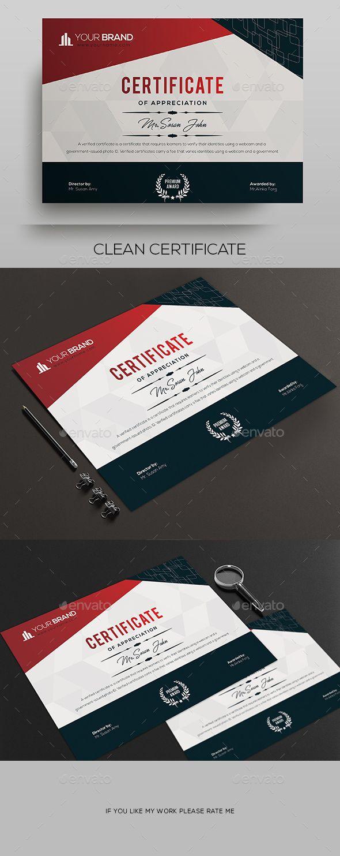 Certificate Template PSD #design