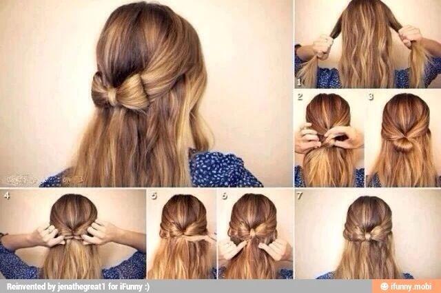 Cute bow hairstyle ❤️❤️❤️❤️