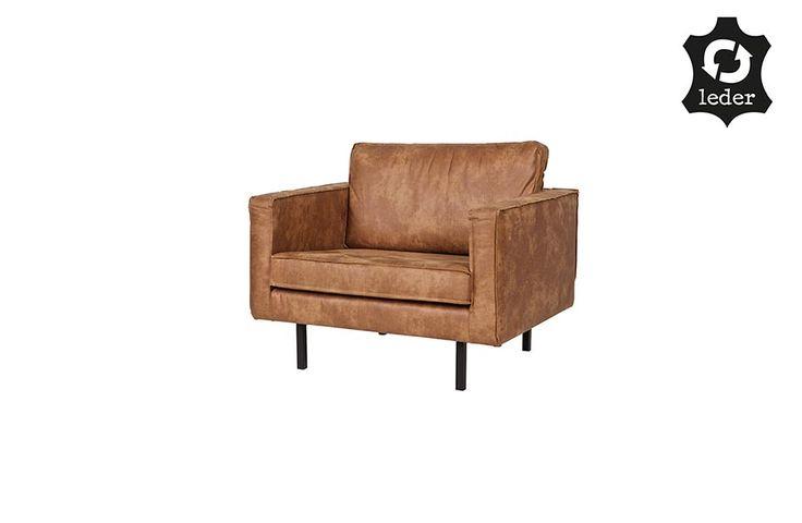 BePure Smart fauteuil cognac/zwart/groen
