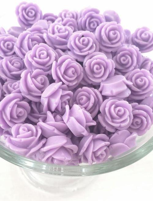 Buy ROSE RESIN FLOWER BEAD WITH HOLEfor R2.50