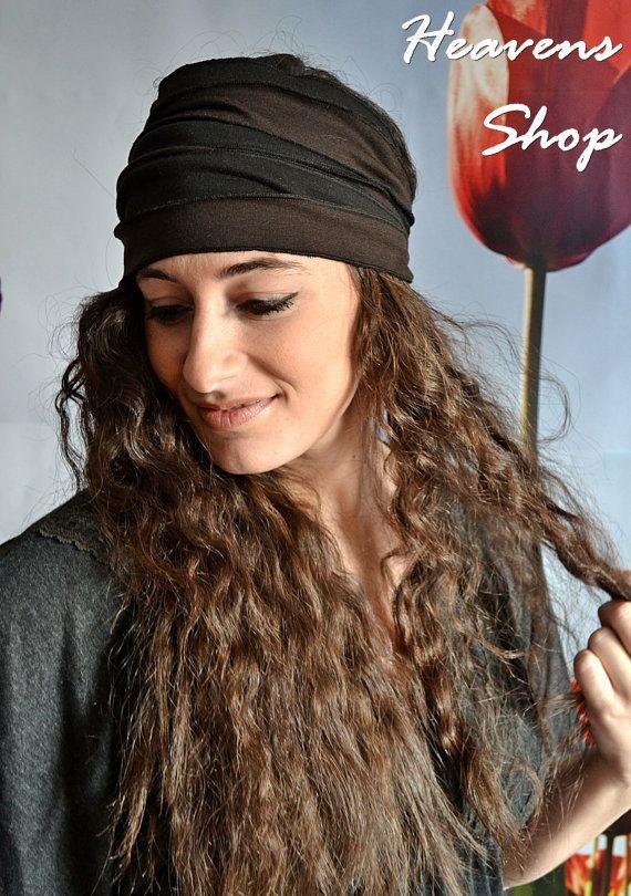 Black And Brown Headband Knitted Fabric Bandana by HeavensShop, €12.50