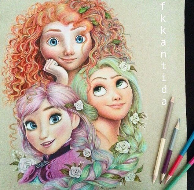 Wall Colour Inspiration: 50 Beautiful Color Pencil Drawings From Top Artists Around