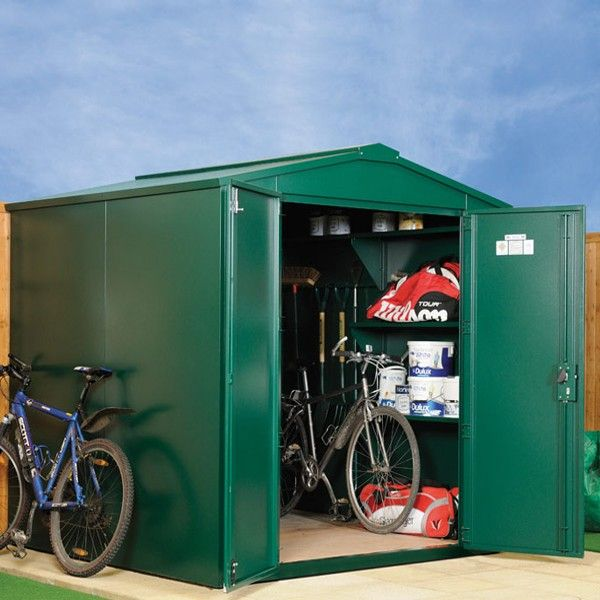 large metal garden shed measures 7 x includes assembly secure outdoor storage from asgard