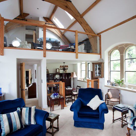 Second Home Decorating Ideas: Mezzanine Floor Chapel Conversion