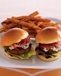 Stilton Sirloin Burgers with Onion Jam, The Bar at the Peninsula • Chicago