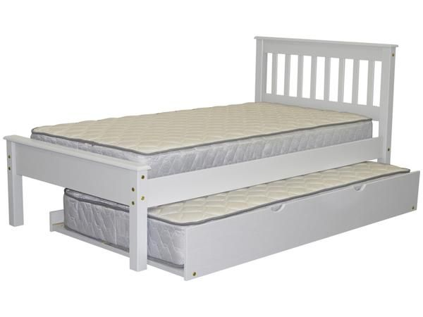 bedz king twin bed white with trundle 352 at bunk bed king free shipping nationwide