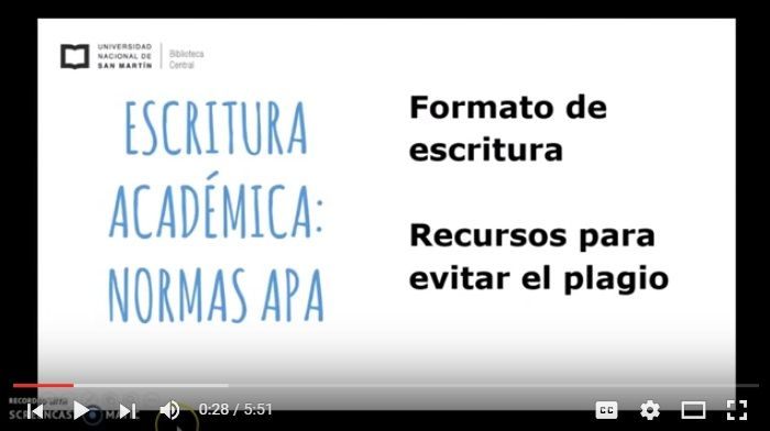 tutoriales en video normas apa