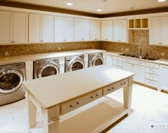 counter space and island are awesome, I want stacked washer and dryers through OR raised ones