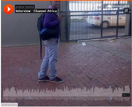 Justice Leshilo ivd on Channel Africa - creating awareness about #MandelaDay and @SABCInfoLib http://sabcmedialib.blogspot.com/2014/07/justice-leshilo-interview-on-channel.html