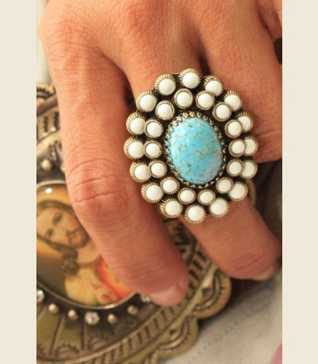 TURQUOISE ALLEY RING - Junk GYpSy co.