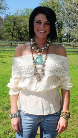 You Gonna Fly Ivory Eyelet & Lace Blouse; $42.95 @ Giddy Up Glamour. Shaley!! This is so you!@@@