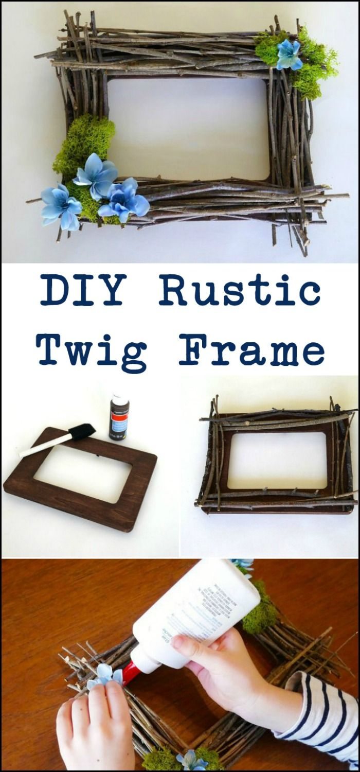Display your favourite family photos in this DIY rustic twig frame!