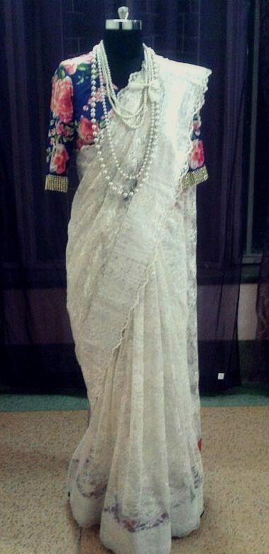 Royal Look- Blouse and Accessories. Sari by Ayush Kejriwal