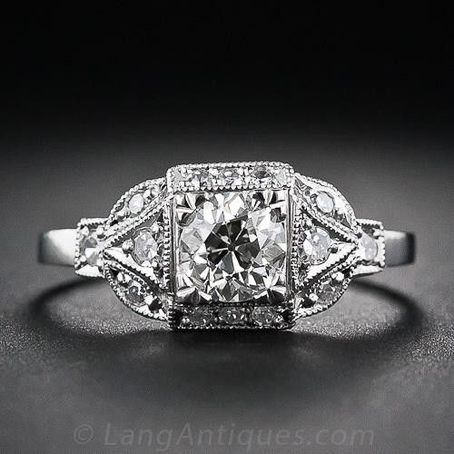 .60 Carat Art Deco Style Diamond Engagement Ring