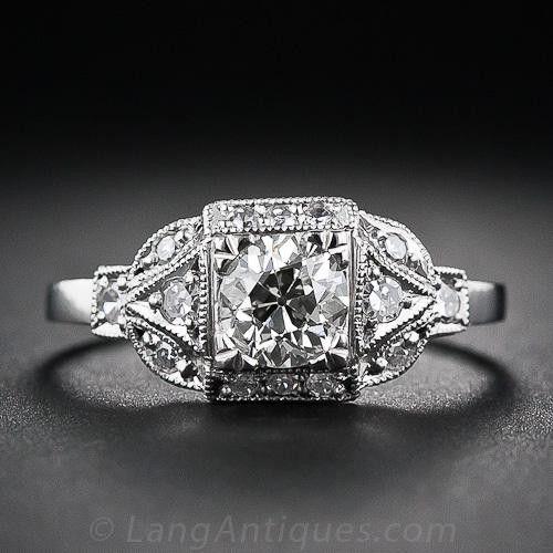 .60 Carat Art Deco Style Diamond Engagement Ring