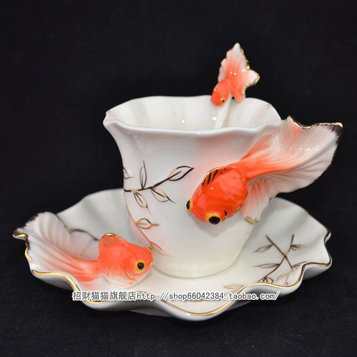 Koi cup and saucer