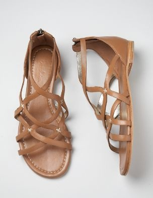 strappy gladiator sandals in tan. want these for summer