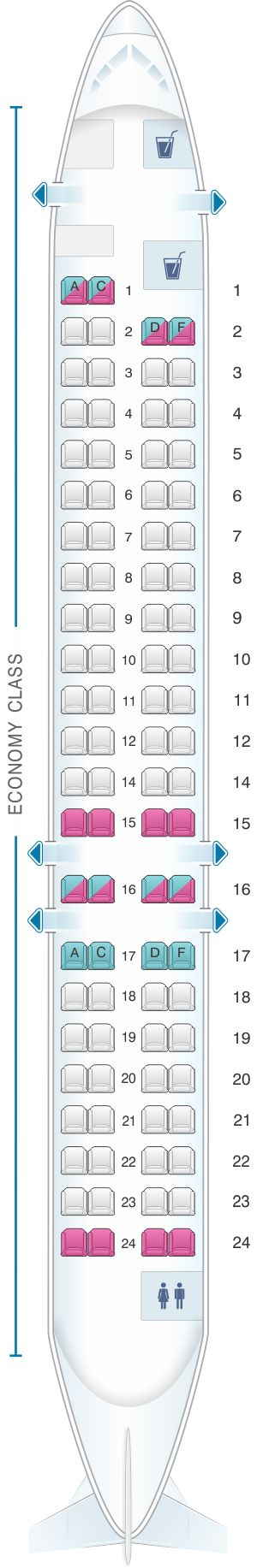Seat Map Iberia Regional – Air Nostrum CRJ 900