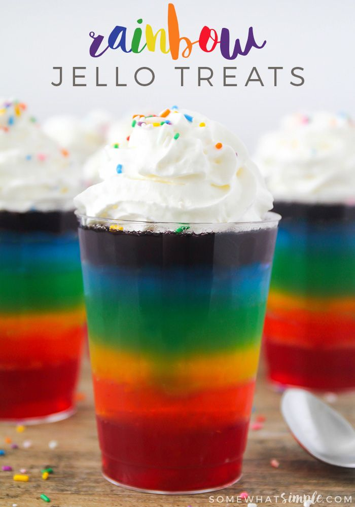 """Here is a simple St. Patrick's Day """"recipe"""" (term used lightly!) that your kids will love- Rainbow Jello!"""