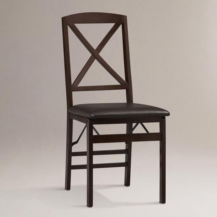 Fortuna X-Back Folding Dining Chairs, Set of 2 | World Market