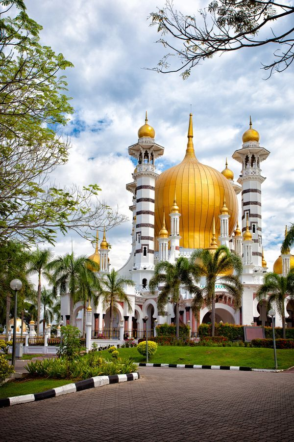 Ubudiah Mosque located in the royal town of Kuala Kangsar, Malaysia. It is often regarded as Malaysia's most beautiful mosque