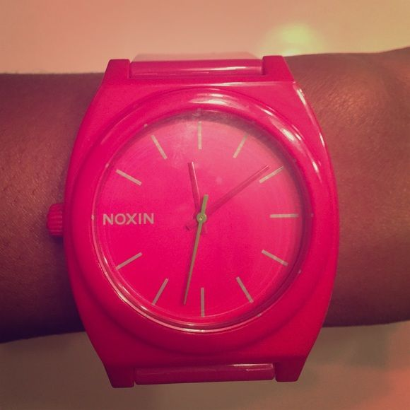 Pink Nixon Women's Watch Brand new! Opened out of box but sadly never been worn.  it's in perfect condition but NEEDS BATTERY!!! ⏱ Nixon Accessories Watches