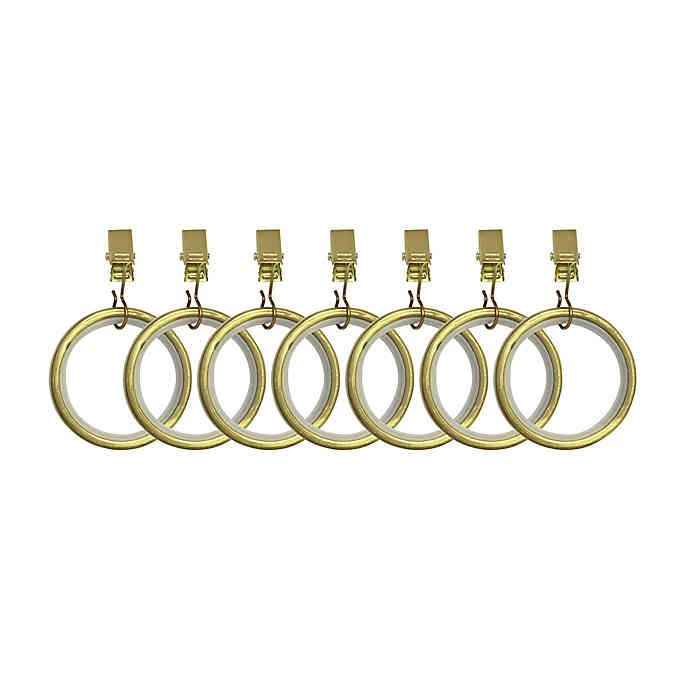 Umbra Cappa Clip Rings In New Brass In 2020 Window Curtain Rods