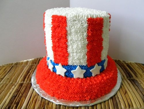 uncle sam hat cake for fourth of july | love to hear about it if you make any of these for your 4th of ...