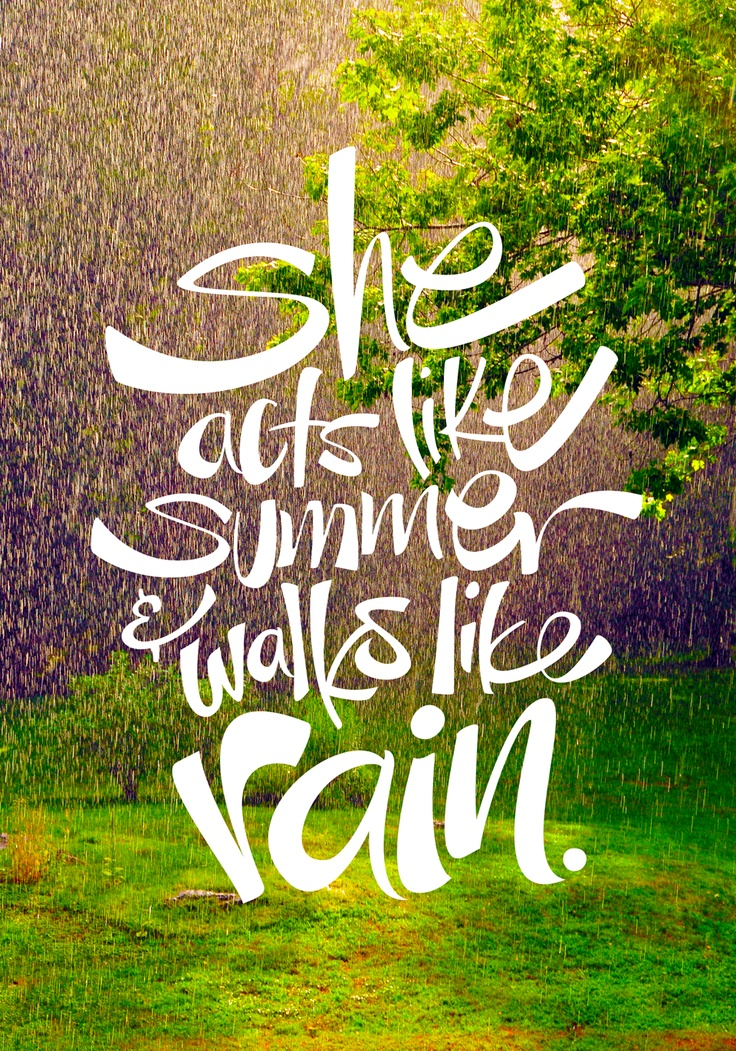 """She acts like summer..."" Poster design with hand-lettered lyrics from ""Drops of Jupiter"" by Train.  Summer Quotes, Quotes about Summer, Quotes about Sunshine #Quotes #SummerQuotes"