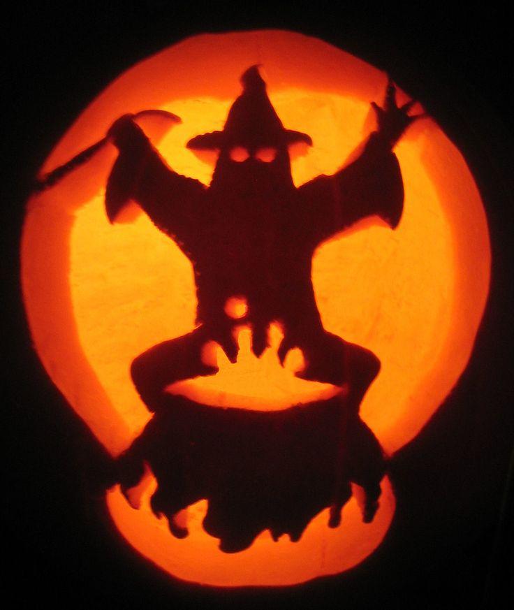 Halloween decorations diy pumpkin ideas that will make for Pumpkin eating pumpkin stencil