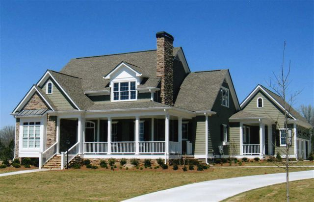 Exterior front 3 quarter view floor plans pinterest for Southern living craftsman house plans