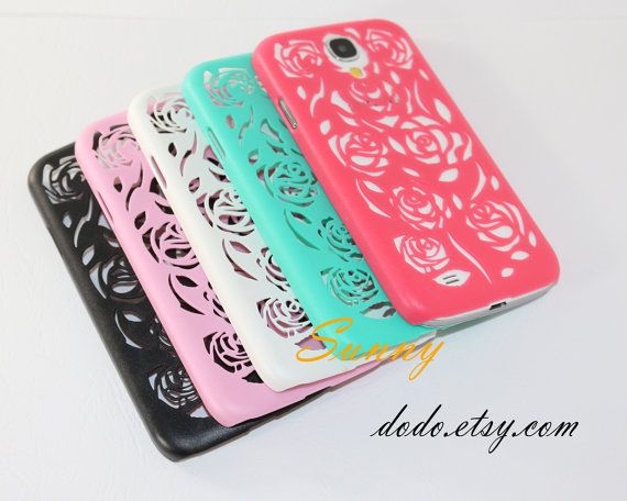 Flowers Sansung Galaxy S4 case,Hollow Samsung Galaxy s4 i9500 case,Bow Galaxy s4 case