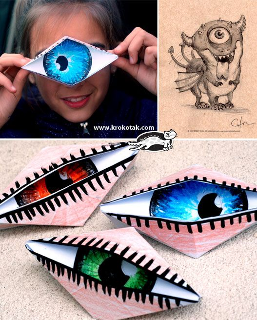 Combine with Dali project. Origami Cyclops Eye - @sarafyke  looks like something you would like ;):