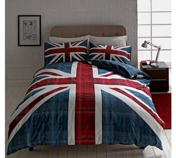 Buy HOME Check Union Jack Multicoloured Bedding Set - Double at Argos.co.uk, visit Argos.co.uk to shop online for Limited stock Home and garden, Limited stock clearance
