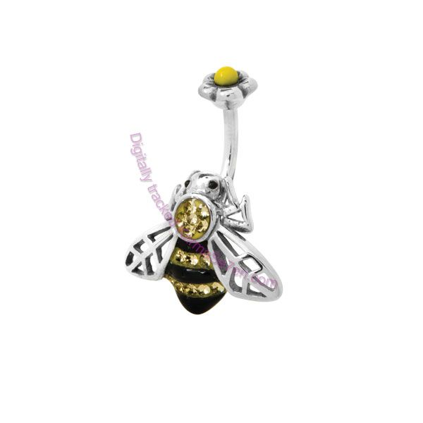 Bee the envy of all your friends with this completely unique and cute Bumble Bee Belly Bar. Only available at www.karmase7en.com.   Get your Cute Belly Bars at www.karmase7en.com where everything is Buy One Choose One FREE. <3