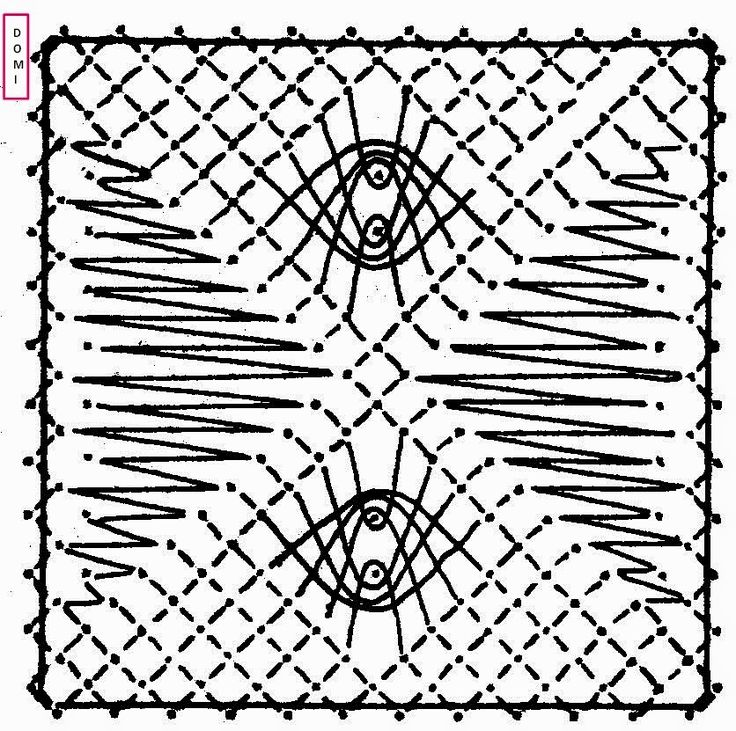 Pour le carré n° 18 Dominique a utilisé plusieurs points : araignée, grille et fond torchon :             Si vous réalisez un ouvrage avec...