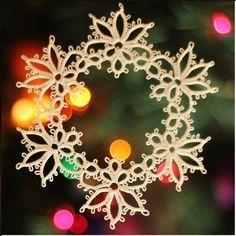 Dancing Angels Pattern PDF, Grape Harvest, tatted snowflake, snowflake, tatting points, tatting pattern, lace, Christmas tatting