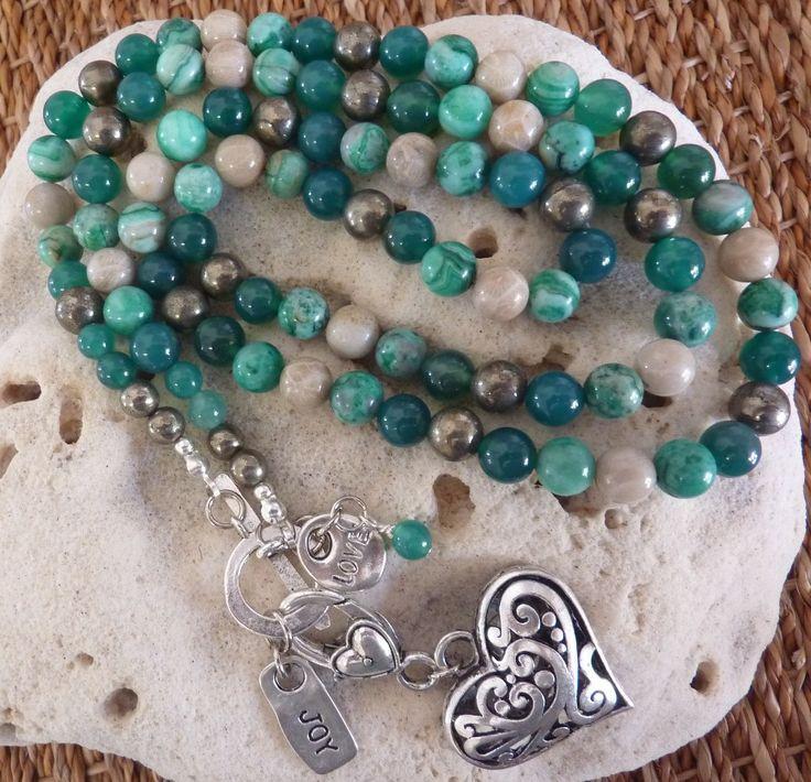 Joy & Love Necklace & Wristwrap - handmade crystal energy gemstone jewellery Earth Jewel Creations Australia