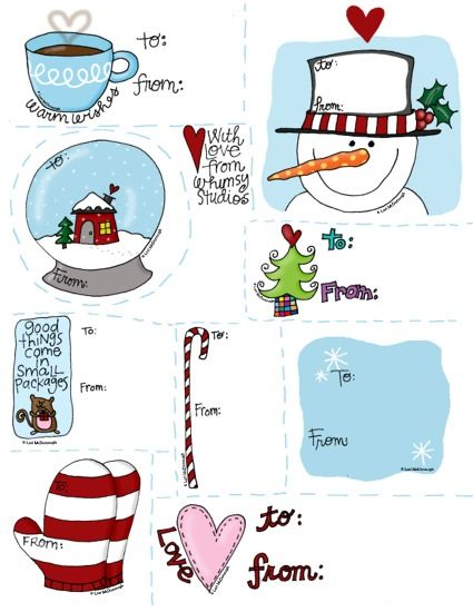 I love these FREE gift tags from Fresh Picked Whimsy.