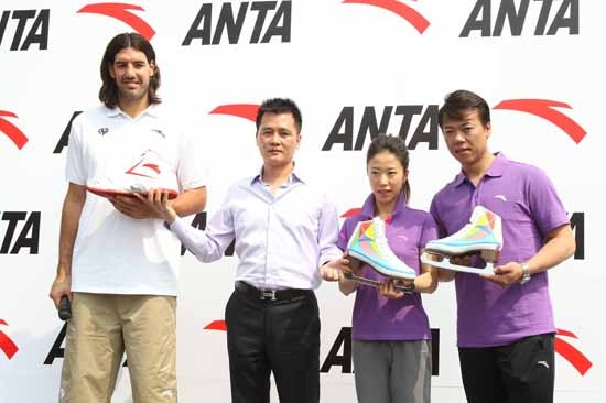ANTA Sports Endorsed Players Luis Scola Arrived Beijing, Unveils ANTA Basketball Shoes Custom-designed for Luis Scola in the NBA Pre-season Games