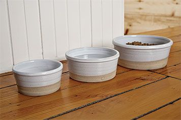 stoneware dog dishes