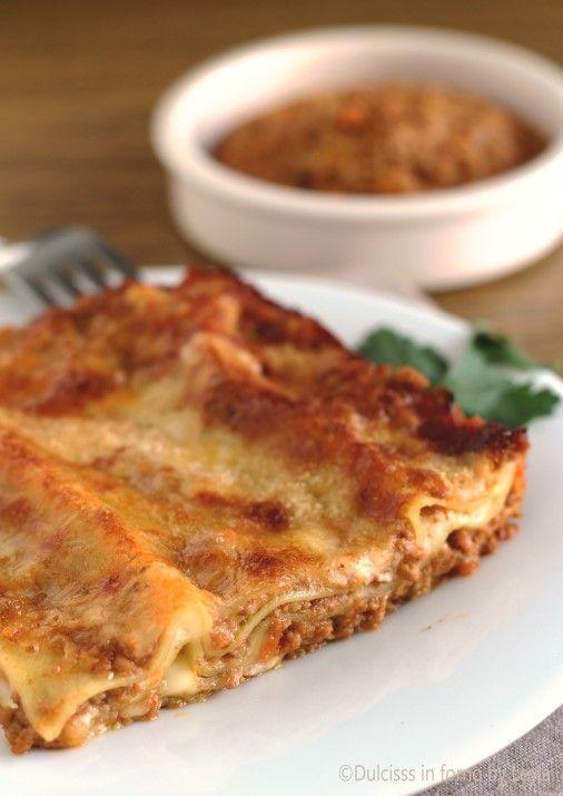 Lasagne al ragù alla bolognese Dulcisss in forno by Leyla