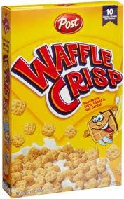 Waffle Crisp Cereal.... I can still taste the amazingness. Yum.