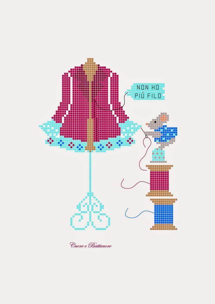 481 best images about couture broderie point de croix. Black Bedroom Furniture Sets. Home Design Ideas