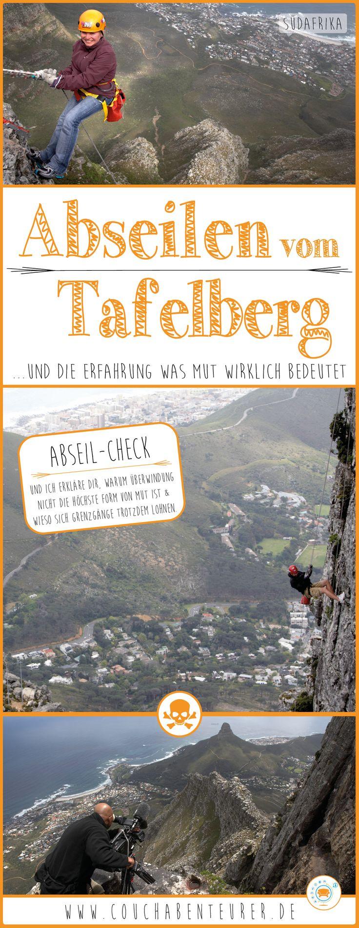 Abseilen vom 1.085m Tafelberg ist ein riesen Erlebnis, eine wahrhaftige Mutprobe und ein Thrill dem nicht jeder gewachsen ist. Meine Geschichte hier und der Grund, warum Überwindung nicht die höchste Form von Mut ist!